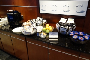 Food spread at US Airways lounge