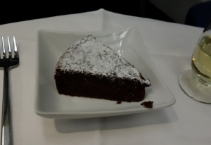 Flourless chocolate cake for dessert