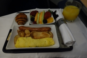 Breakfast before landing