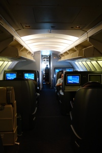 The upper deck business class cabin