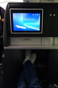 Ample leg room and large entertainment screen