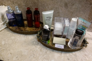 Amenities in the shower rooms
