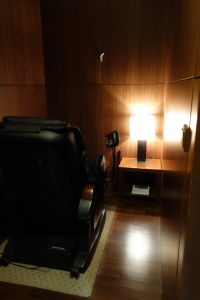 Quiet room with massage chair