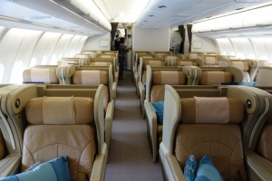 Singapore Business Class cabin