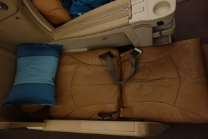 Seat in fully reclined position