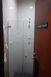 Shower room: can you guess which lounge it's from?