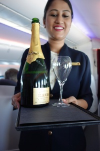 Krug! On a 40 minute morning flight!