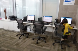 Computers available for use