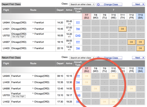 Tada! Correct availability displayed for close-in dates.