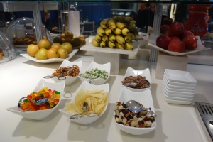 Snacks in the Business lounge