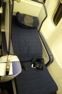 Seat in reclined mode