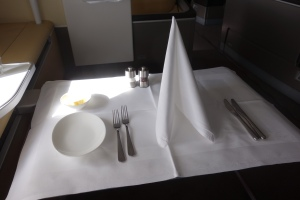 Table setting for the first meal service
