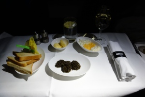 Generous portion of caviar