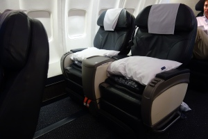 Old business class seats (not row 9)