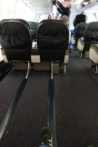 Unlimited leg room for row 9