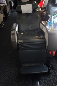Seat 9B in reclined position