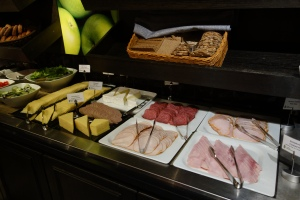 Buffet features items like elk pate and herring