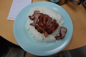 Joy Hing's BBQ pork on rice