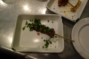 Chicken hearts at Yardbird