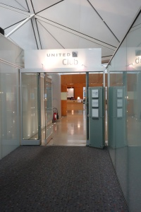 Entrance to the United Club