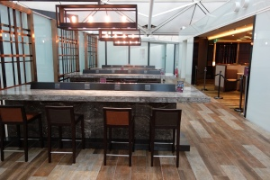 Bar seating with ample power ports