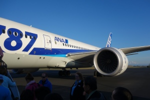 Gorgeous day in Portland, but ANA's 787 shouldn't be there
