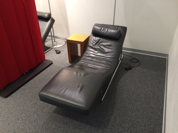 Recliner in relaxation room