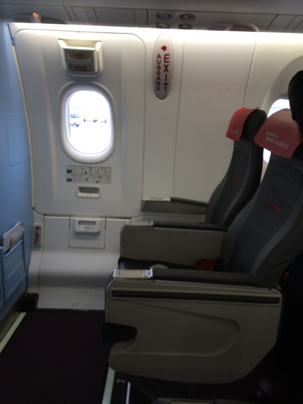 Exit row seats at the front of the plane