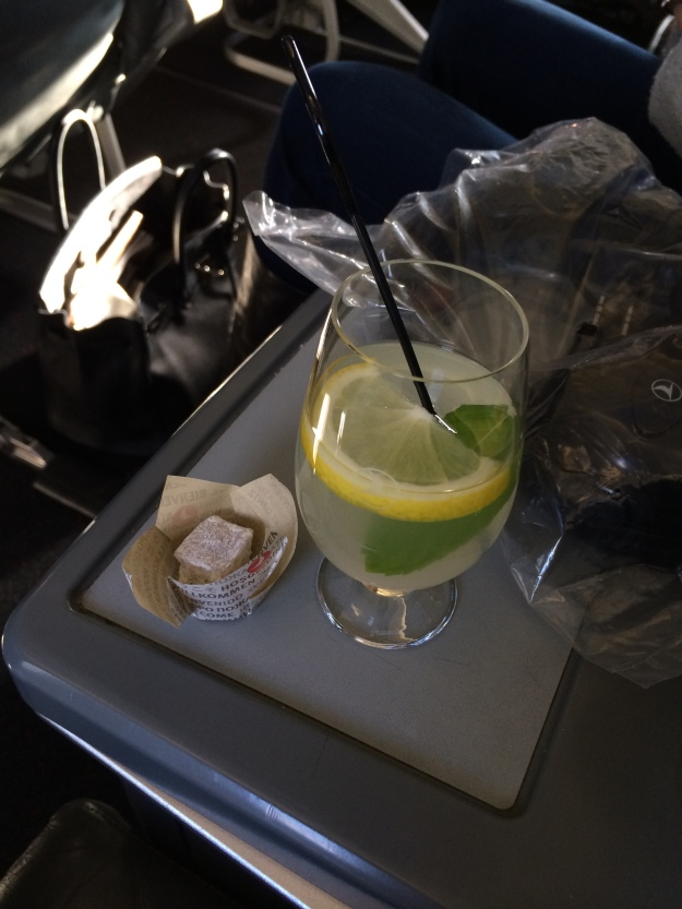 Pre-departure Turkish delight and mint lemonade