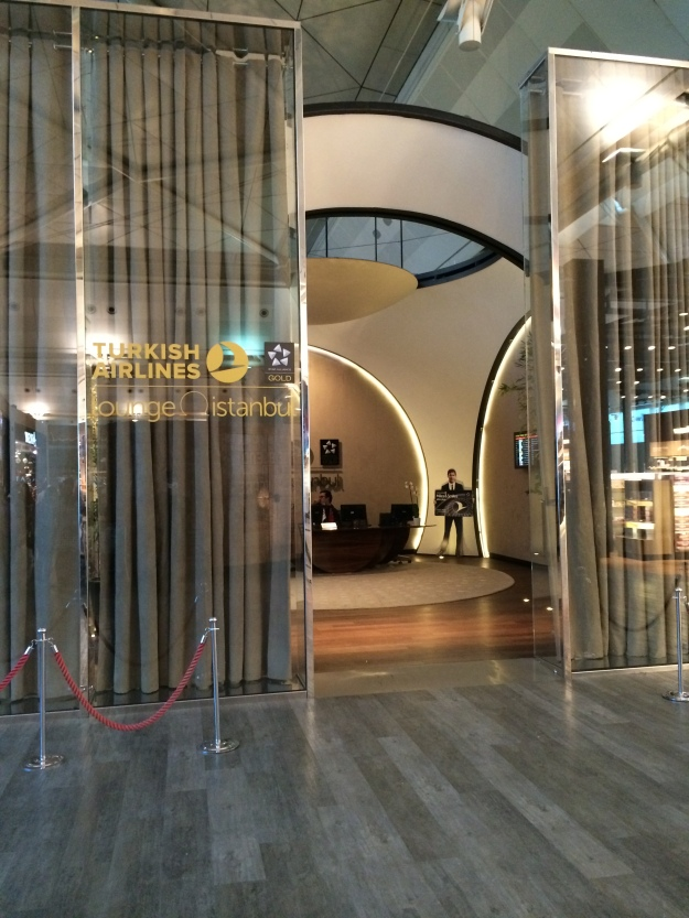 Turkish Airlines lounge entrance