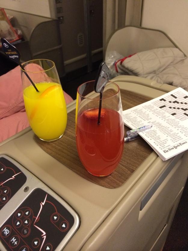 Pre-departure beverage