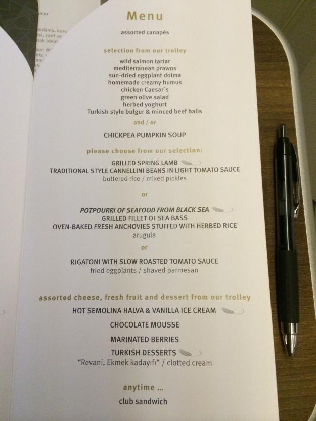 Regular menu