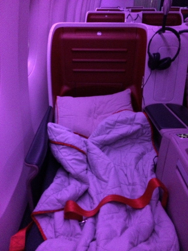 Turkish Airlines business class bed