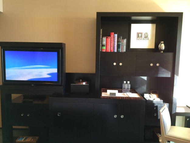 TV and welcome amenity