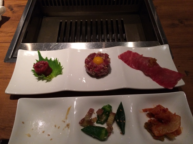 Raw beef three ways