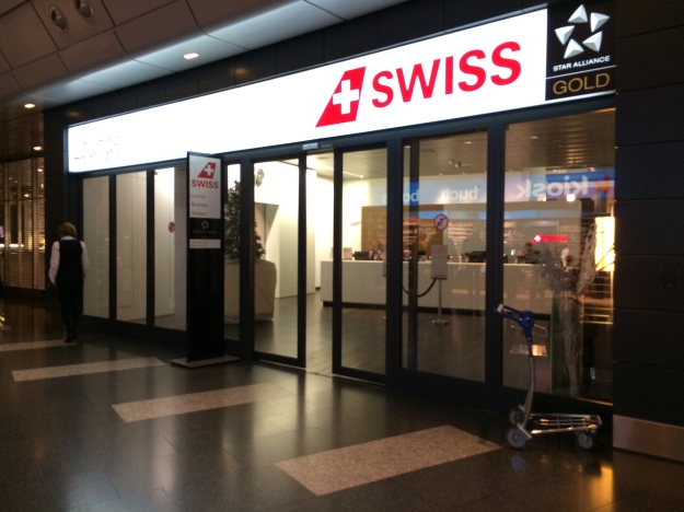 Entrance to the Swiss lounges