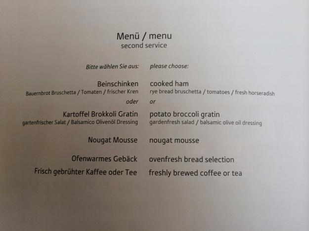 Second service menu