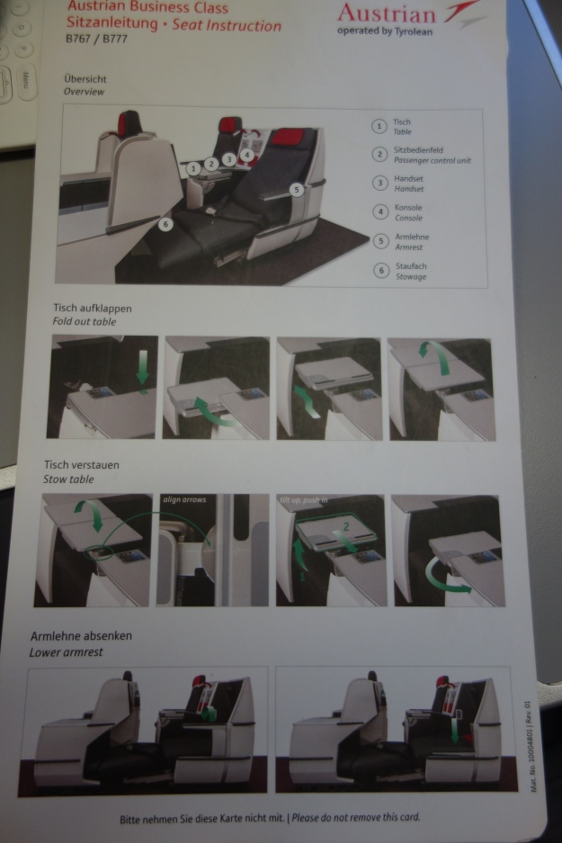 Instructions for the seat