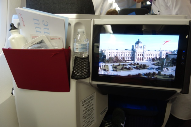 Nice large touch screen for IFE
