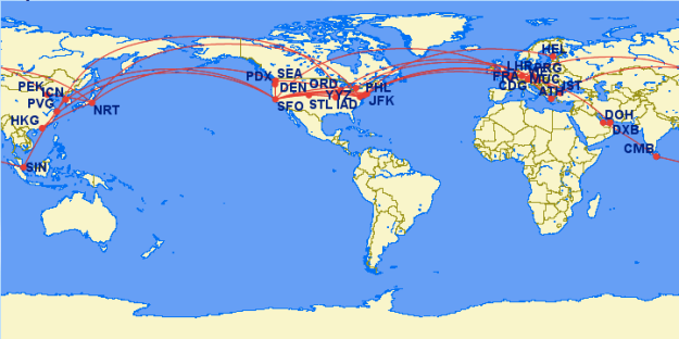 2013 Flight Map