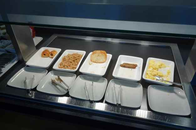 Hot breakfast spread