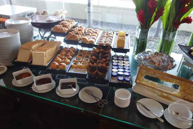 Executive lounge breakfast spread