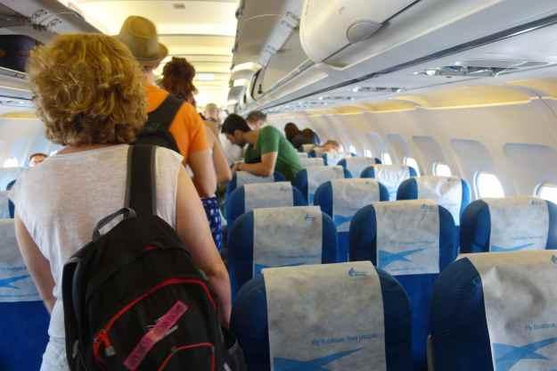 Boarding the all-economy flight