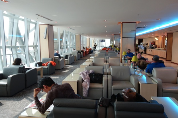 Lounge is one long, open room