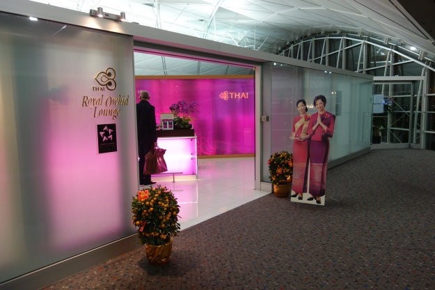 Thai Airways lounge entrance at HKG